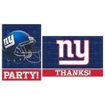 New York Giants NFL Pro Football Sports Party Invitations & Thank You Notes - $10.66