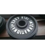 "10lb Pair of International Black Bumper 2"" hole Dia Plates Olympic-Style... - $169.00"