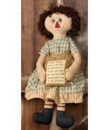 Primitive Decor 3D3313-A True Friend Rag Doll - $24.95