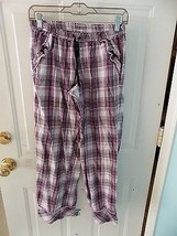 Victoria's Secret Pink/Black Plaid Print Pajama Pants Size XS Women's EUC - $15.60