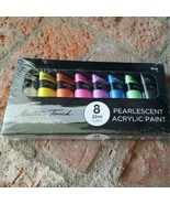 Master's Touch 8-Color Pearlescent Acrylic Paint Set, 22 ml tubes, New - $29.36