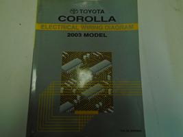2003 Toyota Corolla Elettrico Cablaggio Diagrammi Manuale Fabbrica OEM Book Used - $29.68