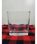 "Rounded Rectangular Glass Vase Thick Glass Heavy Base 7.5"" - $15.84"