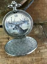 Collectible Deer Buck Pocket Watch, Al Agnew in Tin By Avon - Hunter Hun... - $29.02
