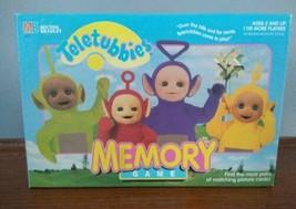 1998 Teletubbies Memory match game Milton Bradley Tinky Winky Dipsy  La ... - $9.89