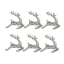 Holiday Silver Napkin Rings Set of 6 Chirtsmas Thanksgiving Wedding Holders for