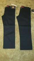Girl's Dickies School Uniform Pants Stretch Fabric Size:1 30 x 24 Black ... - $15.79