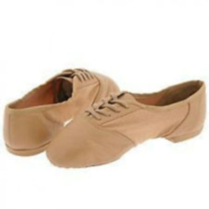 Capezio 358A Adult 11.5M (Fits 10)  Caramel Split Sole Lace Up Jazz Shoes USA