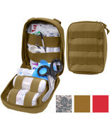Tactical Trauma Kit Pouch Fully Stocked Medical Supplies MOLLE First Aid... - $48.99