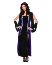Lady Renaissance Gown Costume Small Black Purple Womens Halloween Dress NEW - $28.99