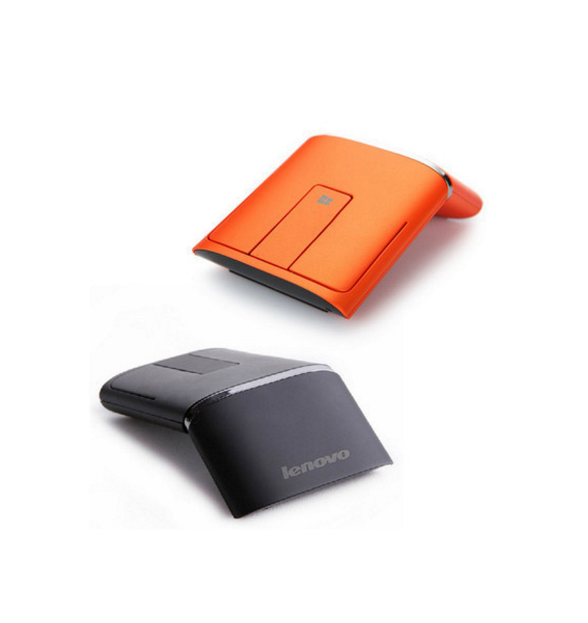 Lenovo N700 Wireless and Bluetooth Mouse and Laser Pointer Orange Compact Portab