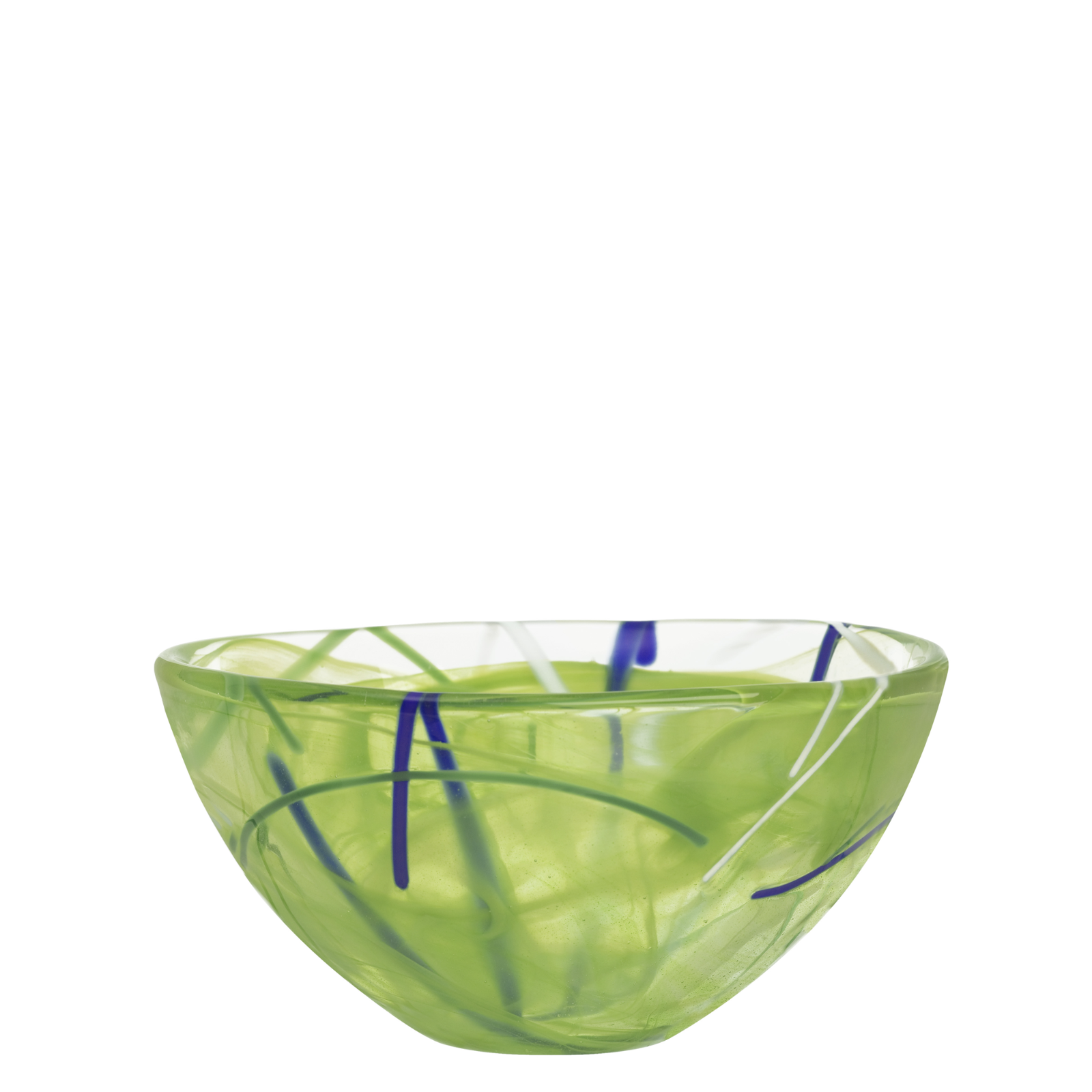 Kosta Boda Serveware Lime Contrast Bowl, 3 Sizes