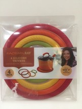 NEW Rachel Ray 4 Piece Silicone Trivets With Stands Temps up to 500 Degrees - $8.59