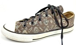Converse Gray Chuck Taylor All Star Lo Skull & Wrenches Sneakers 617685F... - $20.11