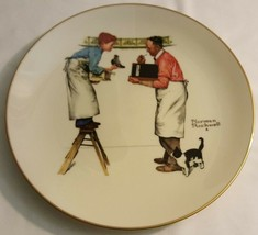 Norman Rockwell Collector GORHAM Plate 1979 Four Seasons - Winter Year End Count - $5.00