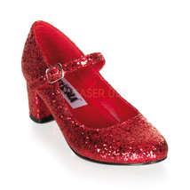 "FUNTASMA Schoolgirl-50G 2"" Heel Pumps - Red Gltr - $44.95"