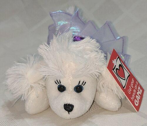 GANZ H12403  White Ballerina Poodle Purple Tutu 7 inch Ages 3 Plus
