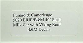 Funaro & Camerlengo HO Boston & Maine 40' Steel Milk Car Kit 5020 image 2