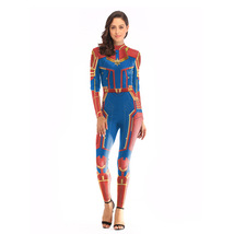 Captain Marvel Costume for Women Bodysuits Halloween Cosplay Costume of 3D Style - $35.99 - $37.99