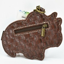 Chala Handbags Faux Leather Triceratops Dinosaur Coin Purse Key Chain Keychain image 2