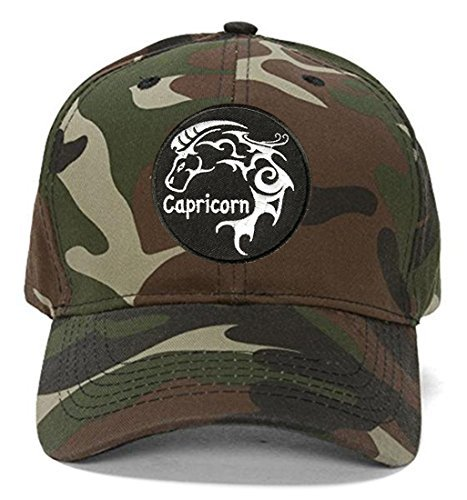 Capricorn Hat - Style Color Options - Zodiac Astrological Sign (Camo)