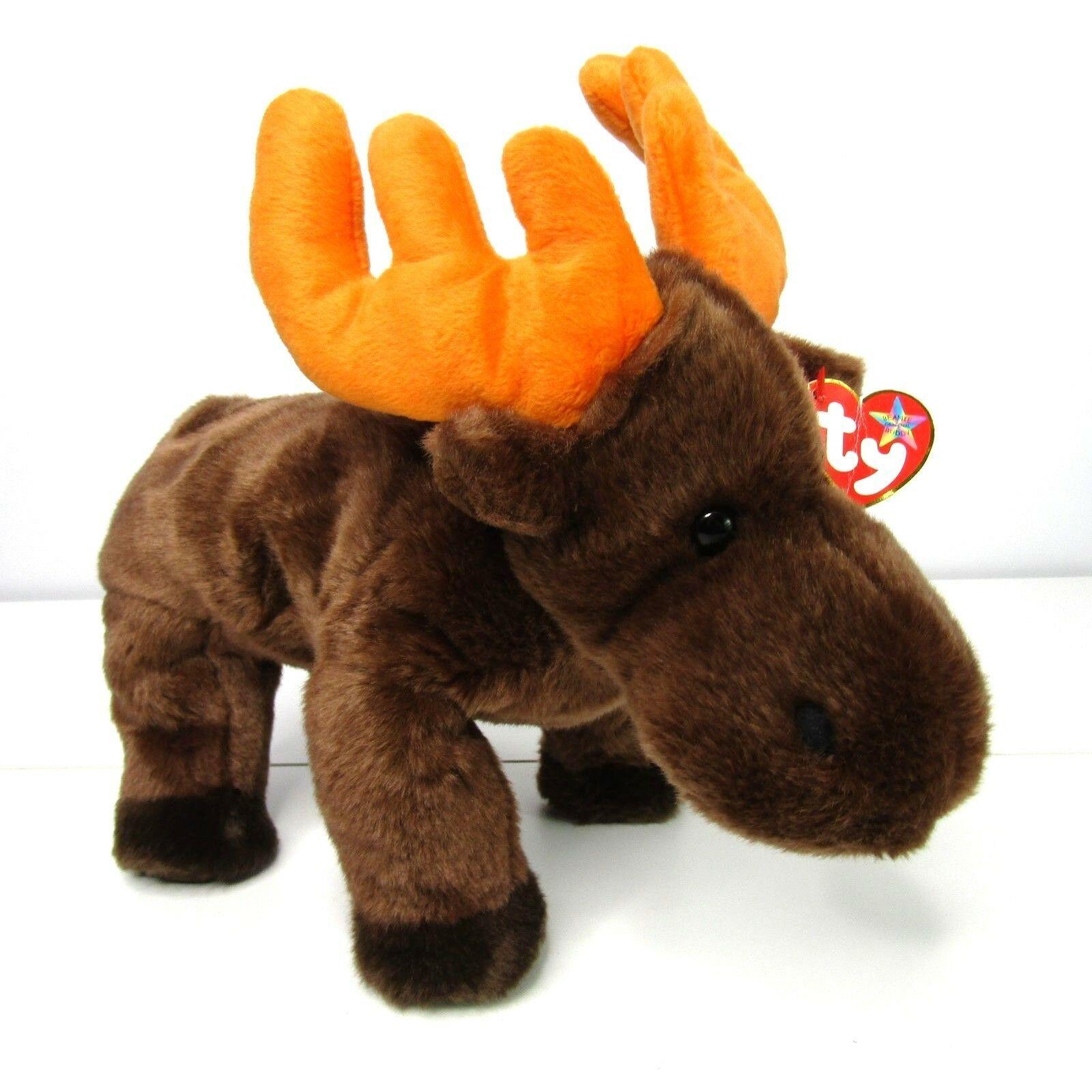 bc173c571b8 Ty Beanie Buddies Chocolate Moose Plush 12