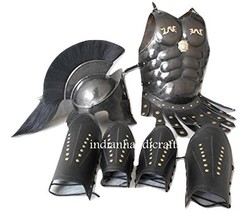 300 Spartan Helmet Muscle Armor & 300 Helmet Leather Leg & Arm Guard - $229.00