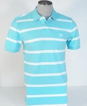 Chaps Blue & White Stripe Short Sleeve Polo Shirt Mens NWT - $37.49