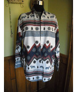 """Women's Blouse """"QUIZZ New York"""" N Western Abstract Cotton (M Tall) Elk C... - $12.95"""