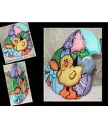 Easter Cookie Lid, Cookie Jar Lid,  Painted Wood Easter, Kitchen Accents... - $34.99