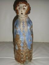 Mid Century Danish Art Pottery Woman Figurine Sculpture - $135.00