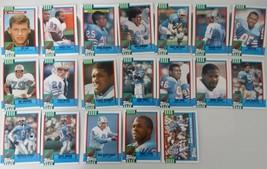1990 Topps Houston Oilers Team Set of 19 Football Cards - $2.99