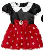 DISNEY Baby Girls Minnie Mouse Infant Costume Size 1+ 12-18M Red White Black - $7.03
