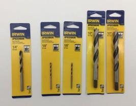"(New) Irwin Speedbor 1/2"", 1/4"", 1/8"" Brad Point Drill Bit Set - $20.78"