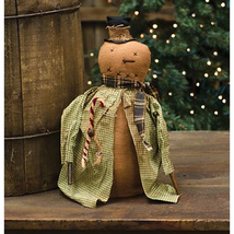 Country IRVING SNOWMAN JACKET DOLL Rustic Primitive Farmhouse Christmas ... - $42.99