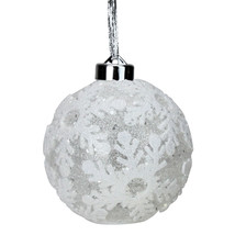 Diva at Home Lighted Glitter Snowflake Spheres Christmas Ornament Decor ... - $63.10