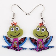 Bonsny drop frog earrings acrylic dangle  2015 news spring summer girls ... - $9.19