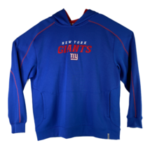 Reebok Mens Size XL Blue Red NY New York Giants Sweatshirt Hoodie Footba... - $29.66