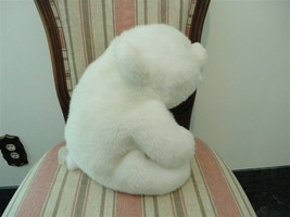 Classic Gund Platinum Edition 1980 Large SNUFFLES White Chubby Bear 13 inches - $120.15