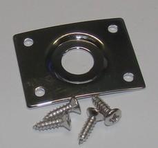Replacement Jack Plate & Screws for Les Paul® & Similar Guitars - Chrome... - $8.95