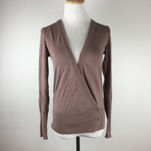 Ann Taylor Factory Women's Gray Purple Longsleeve Cardigan Sweater Size XS - $15.83
