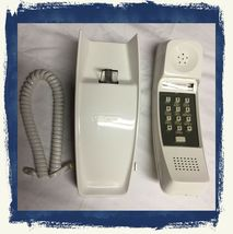 VTG 1970s GTE White Wall Mount Corded Home Telephone w/Push Button Recei... - $63.90