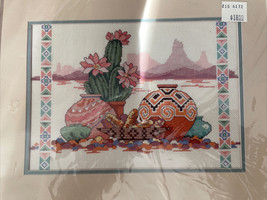 Taste Of The Southwest Cross Stitch Kit Desert Cactus Pottery Dimensions 3687 - $14.52