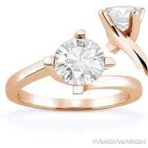 Round Cut Forever Brilliant Moissanite 14k Rose Gold Solitaire Engagemen... - £329.13 GBP+
