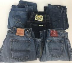 Lot 5 Denim Jeans Lucky COH Rock & Republic Mixed Leg Rise Styles Men Wo... - $27.66