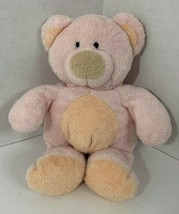 Ty tylux Pluffies Pinks the Bear Plush teddy pink tan peach 2002 soft be... - $9.89