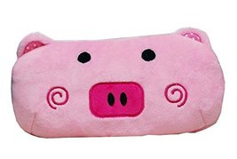 Cute Pink Pig Cartoon Animal Plush Pencil Case Bag - $17.52