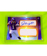 NFL JARIUS WRIGHT VIKINGS AUTOGRAPHED 2012 TOPPS FINEST JERSEY REFRACTOR... - £2.49 GBP