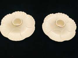 Lenox Porcelain Pair Taper Candle Holders Japan - $22.65