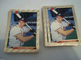 50 RYAN KLESKO 1992 BOWMAN GOLD #623 ROOKIE CARD ATLANTA BRAVES SHARP CO... - $27.72